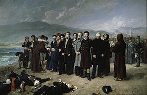 Fusilamiento de Torrijos y sus compañeros en las playas de Málaga