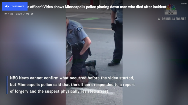 Video captures events before the handcuffing of a black man in Minneapolis who died after being pinned to the ground by police