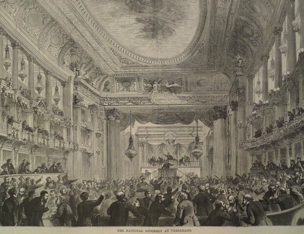French National Assembly meets at opera house in Versailles