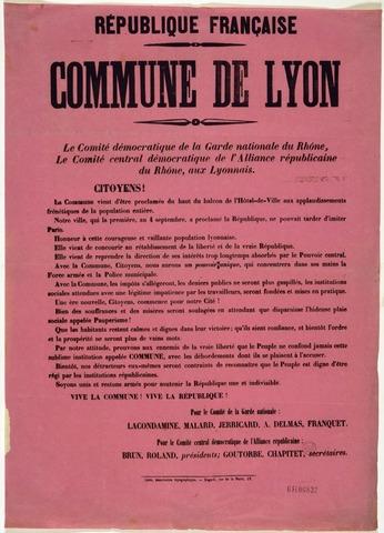 Second Commune of Lyon begins