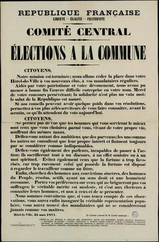 Voters in Paris elect a Commune Council