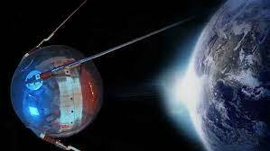 Primer satélite artificial.