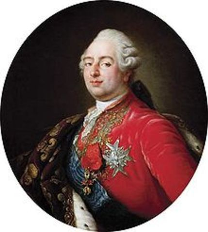 Louis XVI convokes Etat-general on suggestion of former finance minister Jacques Necker, to hear grievances.
