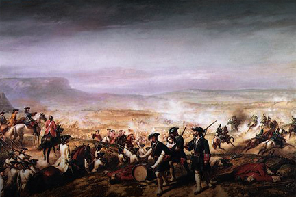 Batalla en el puente de Calderón.