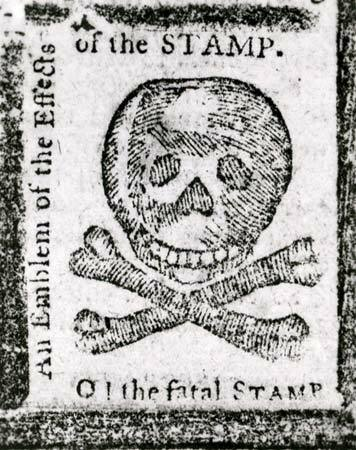 The Stamp Act introduced to America