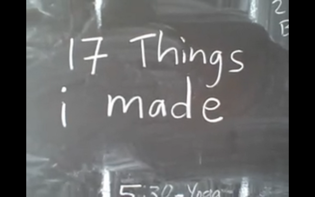 """""""17 Things I Made"""" premieres on YouTube"""