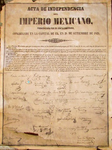 Firma de independencia