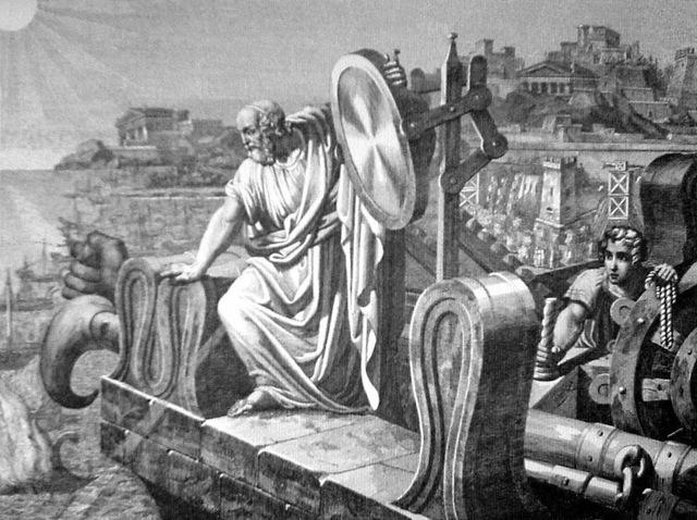 El rayo de calor de Arquímedes