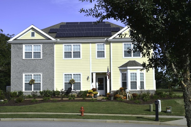 First solar powered house
