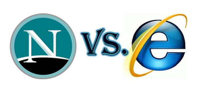 Netscape и Internet Explorer