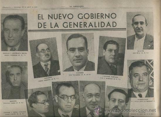 Nuevo gobierno de la Generalitat.