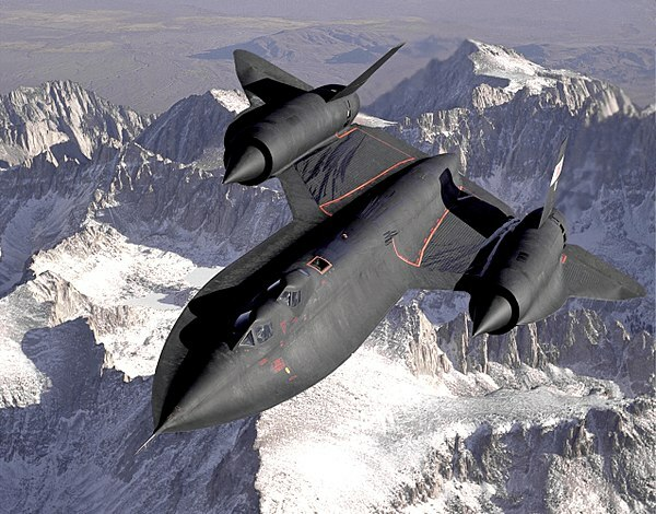 Lockheed SR-71. Avión de reconocimiento de los Estados Unidos.