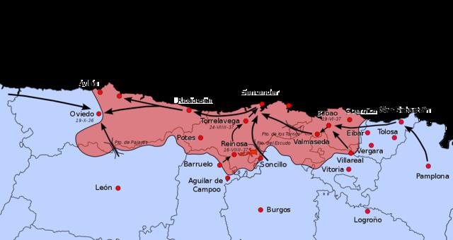 Campanya sobre Asturies-Caiguda de Gijón
