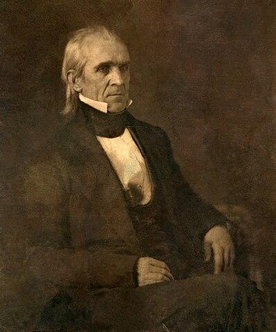 James K. Polk. (1795-1849). - 11º Presidente de los Estados Unidos.