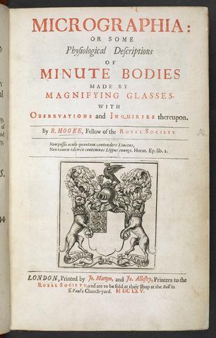Hooke published Micrographia