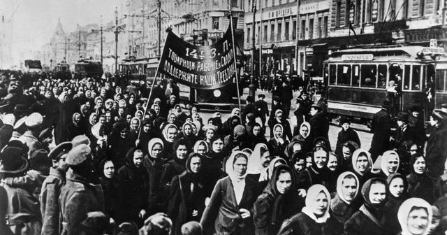 International Women's Day in Petrograd