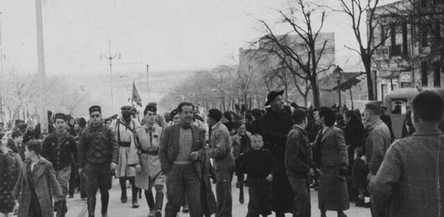 El ejercido Franquista entra en Barcelona.