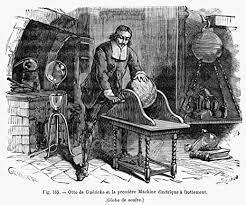 The first machine of static electricity