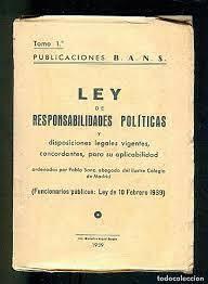 Aplicació de la Llei de responsabilitats polítiques