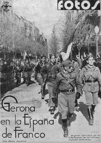 La caiguda de Girona davant l'exèrcit franquisme.
