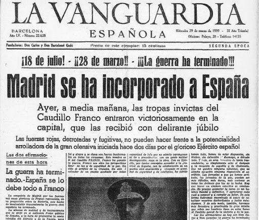 Franco i el seu exèrcit entren a Madrid i tres dies després els nacionals van ocupar la resta del territori república.