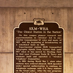 Creation of the 9XM radio transmitter.