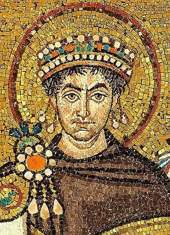 Bizantino: Mosaico. Justiniano