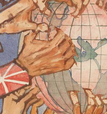 Desintegración de los dominios coloniales europeos en Asia y África y surgimiento de nuevos Estados nacionales.
