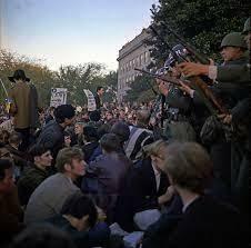 Oposición ciudadana en EUA a la guerra de Vietnam.