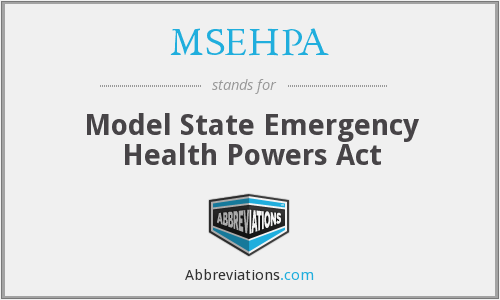 The Model State Emergency Health Powers Act is prepared by The Center for Law and the Public's Health at Georgetown and Johns Hopkins Universities for the Centers for Disease Control and Prevention [CDC]