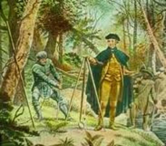 George Washington is sent to survey the land