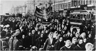 International Women's Day March in Petrograd