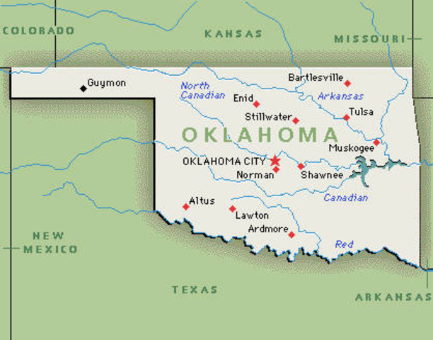 Oklahoma added to the Union