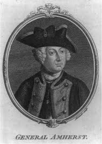 Sir Jeffrey Amherst becomes a major general