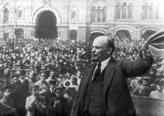 Bolsheviks overthrow the Provisional Government and take control