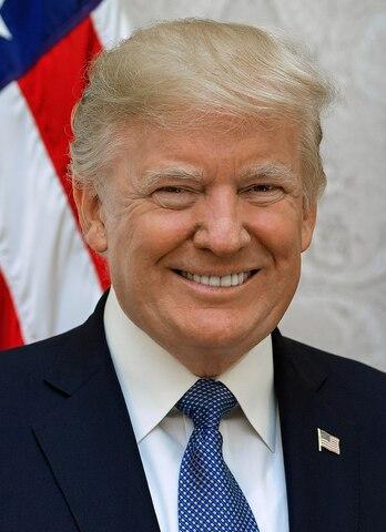"""President d'estats Units """" Donald Trump""""."""