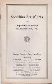 Securities Act of 1933(New Deal)
