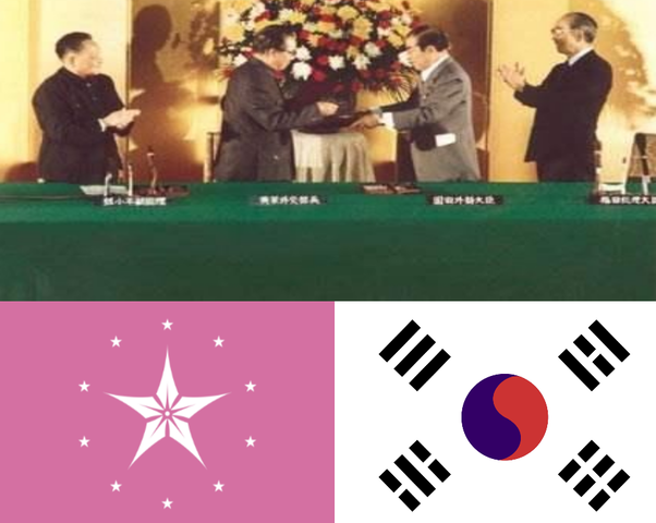 Trattato di Shangai tra Cina e Giappone.