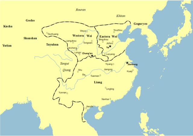 Inicio de la Dinastía Liang Meridional