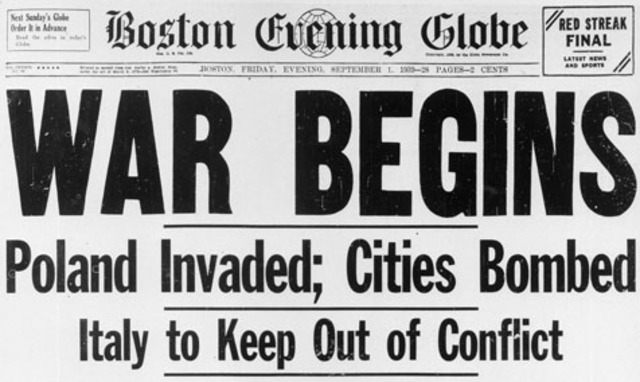 WWII begins: Nazi Germany invades Poland