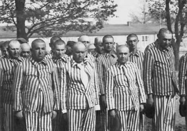 The first Jewish prisoners are liberated from the concentrstion camps