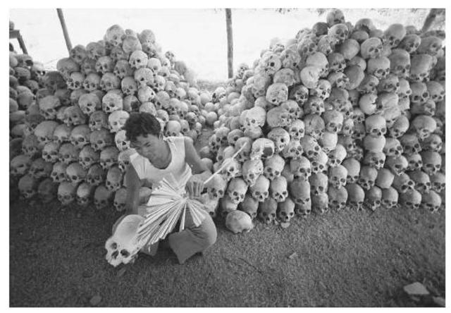 Cambodia: Pol Pot and the Khmer Rouge murder about 1,700,000 Cambodians, Vietnamese, and Chinese
