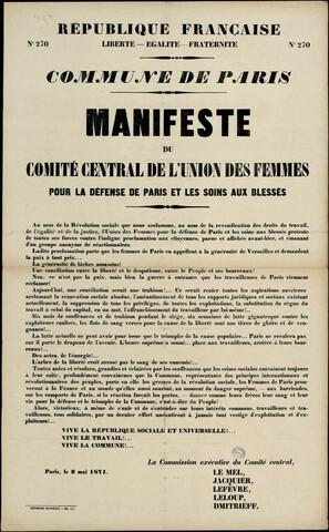 """Union des Femmes"" founded by Elisabeth Dmitrieff & Nathalie Lemel"