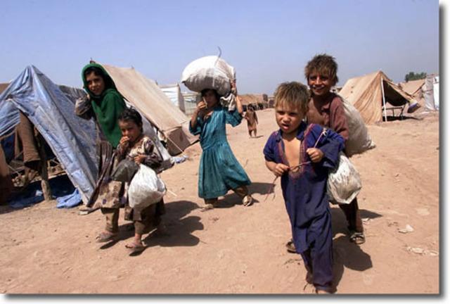 Soviet occupation of Afghanistan makes half of the world's refugees Afghan