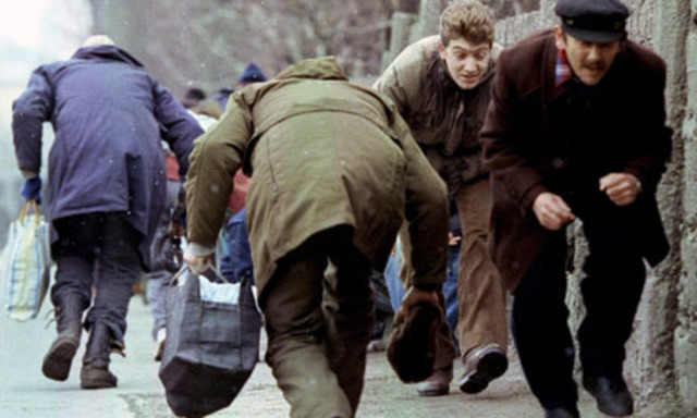 Nationalist Serbian snipers fire on peaceful demonstraters in Sarajevo, marking the beginning of the Bosnian war. Bosnian Serb soldiers are formally dischraged from the Yugoslav army.