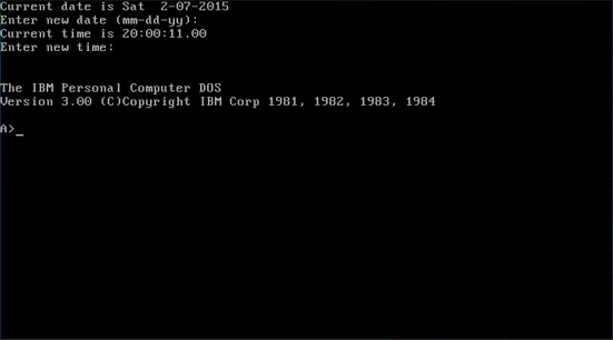 MS-DOS 3.0 (MicroSoft Disk Operating System)