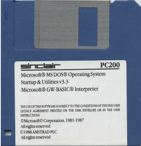 MS-DOS 3.3 (MicroSoft Disk Operating System)