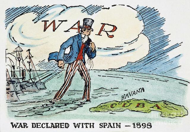 US declares war with Spain.