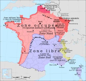 Zone libre et zone occuppée