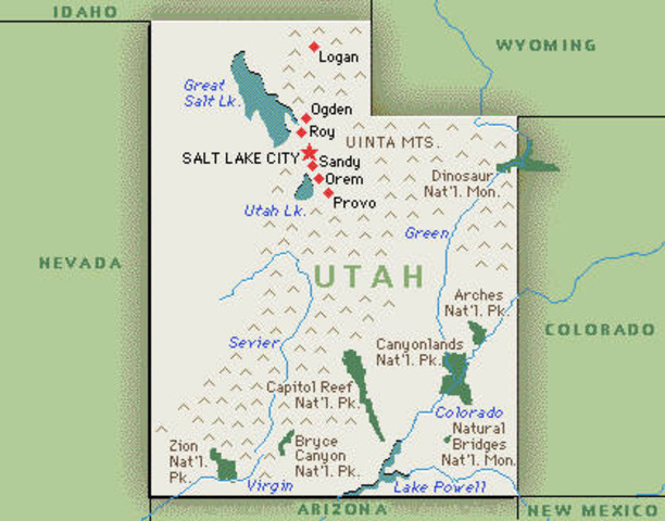 Utah admitted to Union